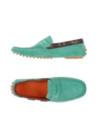 Etro Footwear Moccasins Men Light Green