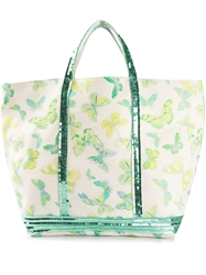 Vanessa Bruno Large Butterfly Print Tote Nude And Neutrals