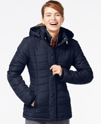 Rampage Hooded Quilted Puffer Coat