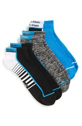 Calvin Klein Men's Coolpass Ankle Socks French Blue Black Black