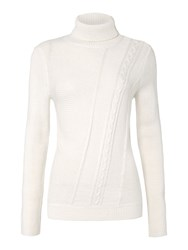 Therapy Cutabout Cable Knit Jumper Off White