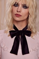 Lena Bernard Bow Way Out Velvet Choker Black