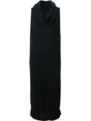 Mm6 Maison Margiela Draped Collar Tube Knit Dress Black
