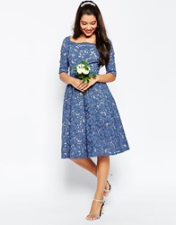 Asos Wedding Lace Prom Dress Blue