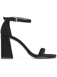 Stuart Weitzman Ankle Strap High Sandals Black