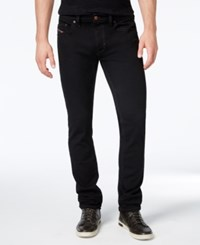 Diesel Men's Thavar 0Z886 Black Straight Fit Jeans Black Denim