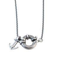Anchor And Crew Toggle Windlass Silver Pendant