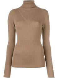 P.A.R.O.S.H. 'Licia' Turtleneck Jumper Brown