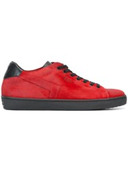 Leather Crown 'Skt' Sneakers Red