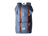 Herschel Little America Limoges Crosshatch Tan Synthetic Leather Backpack Bags Gray