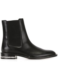 Givenchy Chain Trim Chelsea Boots Black