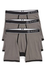Naked Men's 'Wade' Stretch Cotton Boxer Briefs Smoked Pearl