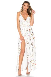 Oh My Love Wrap Maxi Dress White