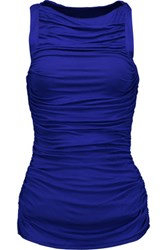 Bailey 44 Parvati Ruched Stretch Jersey Top Royal Blue