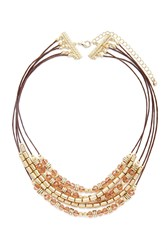 Forever 21 Bead Layered Necklace