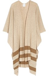 Madeleine Thompson Towton Striped Cashmere Wrap Camel