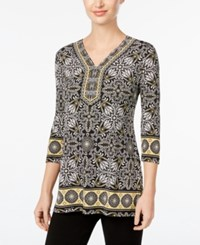 Jm Collection Embellished Geo Print Tunic Only At Macy's Winter Aurora