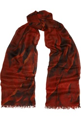 Helmut Lang Mars Printed Cashmere Scarf