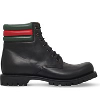 Gucci Marland Leather Boots Black