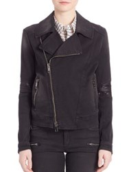 Superfine Guerilla Denim Moto Jacket Black