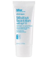 Bliss Fabulous Face Lotion Spf 15 1.7 Oz.