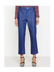 Marc Jacobs Cropped Bowie Pant Blue