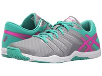 Asics Met Conviction Taupe Pink Glow Peacock Green Women's Shoes Gray