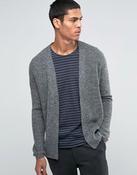 Selected Homme Mohair Cardigan Grey