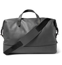 Tomas Maier Leather Holdall Anthracite