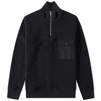Tres Bien Half Zip Sweater Black