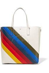Anya Hindmarch Ebury Smiley Perforated Leather Tote Multi