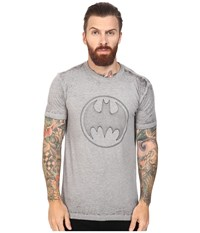 Kinetix Geometiric Batman Tee Heather Grey Men's T Shirt Gray