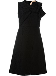 N 21 Nao21 Knot Detail A Line Dress Black
