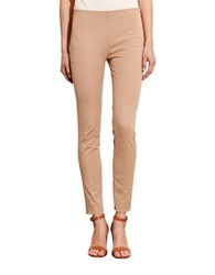 Lauren Ralph Lauren Plus Stretch Cotton Skinny Pant Tan