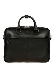 Bric's Varese Business Saffiano Leather Large Briefcase Black