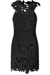 True Decadence Crochet Lace Bodycon Dress Black