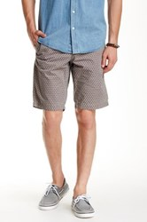 Ganesh Regular Fit Printed Short Beige