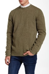 Barbour Weymouth Crew Light Olive Wool Sweater Green