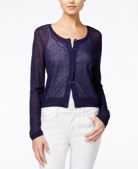 Maison Jules Sheer Cardigan Only At Macy's Blu Notte
