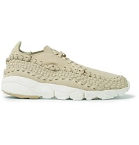 Nikelab Air Footscape Nubuck Trimmed Woven Mesh Sneakers Beige