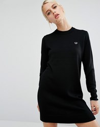 Fred Perry Knit Dress Black 102 Grey
