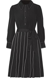 Marc Jacobs Pleated Silk Mini Dress Black