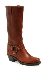 Frye 'Harness 15R' Knee High Boot Women Cognac Leather