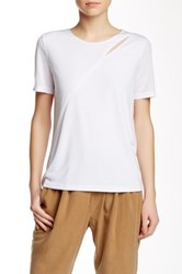 Shades Of Grey Diagonal Cutout Tee White