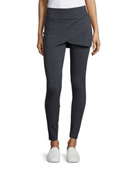 Marc New York Tulip Skirted Leggings Charcoal Heather