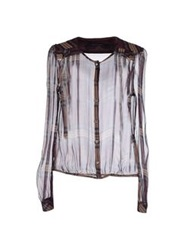 Patrizia Pepe Sera Shirts Deep Purple