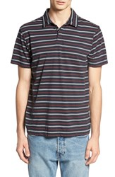 Rvca Men's 'Sure Thing' Stripe Jersey Polo