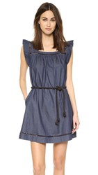 Designers Remix Lotus A Line Dress Dark Denim