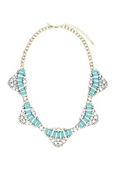 Natasha Accessories Vintage Stone And Crystal Necklace Green