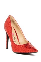 Penny Loves Kenny Opus Glitter Pump Red